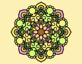 Coloring page Mandala meeting painted byLornaAnia