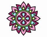 Mandala simple flower