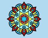 Coloring page Mandala vegetal life painted byLornaAnia