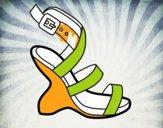 Uncovered heel design