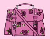 Coloring page Flowered handbag painted byLornaAnia