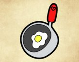 Coloring page Frying pan for frying painted byLornaAnia