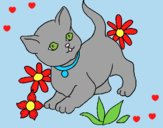 Coloring page Kitten painted byLornaAnia