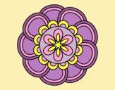 Coloring page Mandala petals painted byLornaAnia