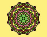 Coloring page Mandala with stratum painted byLornaAnia