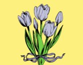 Coloring page Tulips with a bow painted byLornaAnia
