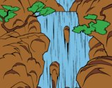 Coloring page Waterfall painted byLornaAnia