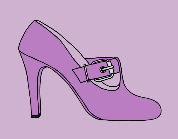Coloring page Chic shoes painted byLornaAnia