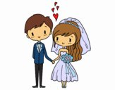 Coloring page Couple very in love painted bySamsgirl18