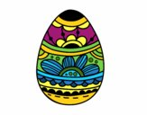 Easter egg with floral print