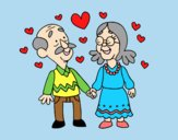 Coloring page Grandparents love so much painted byLornaAnia