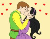 Coloring page Kiss of love painted byLornaAnia