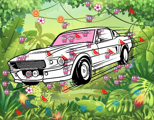 Mustang retro style
