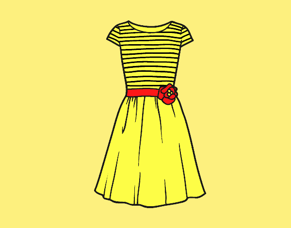 Coloring page Casual dress painted byLornaAnia