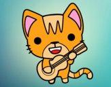 Guitarist cat