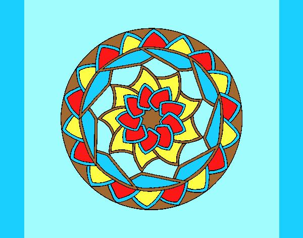 Coloring page Mandala 1 painted byLornaAnia