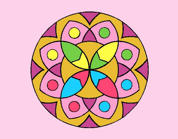 Coloring page Mandala 13 painted byLornaAnia