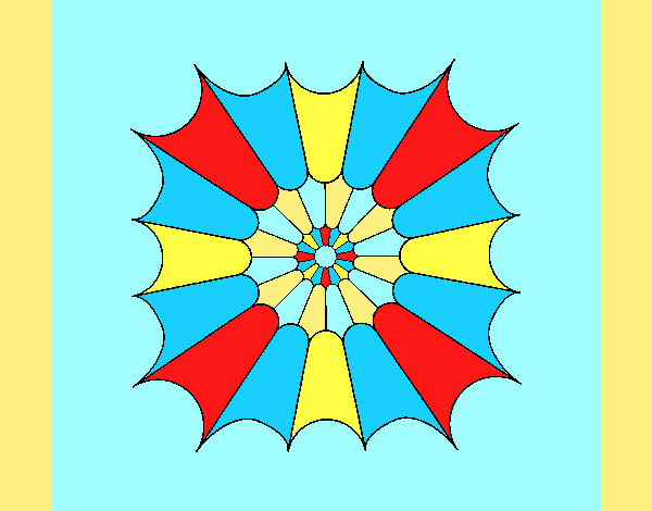 Coloring page Mandala 15 painted byLornaAnia