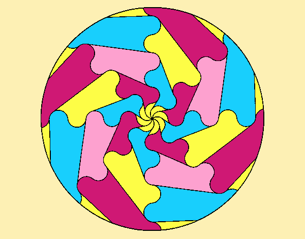 Coloring page Mandala 17 painted byLornaAnia