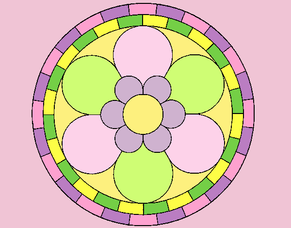 Coloring page Mandala 2 painted byLornaAnia