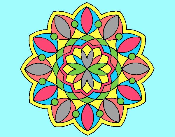 Coloring page Mandala 20 painted byLornaAnia