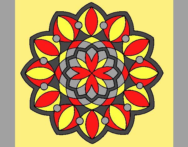 Coloring page Mandala 3 painted byLornaAnia