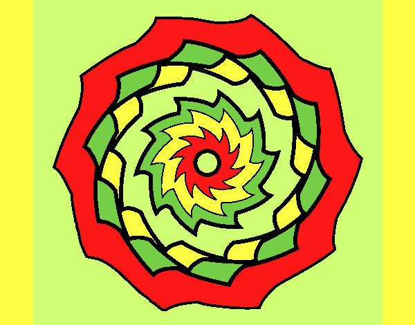 Coloring page Mandala 9 painted byLornaAnia