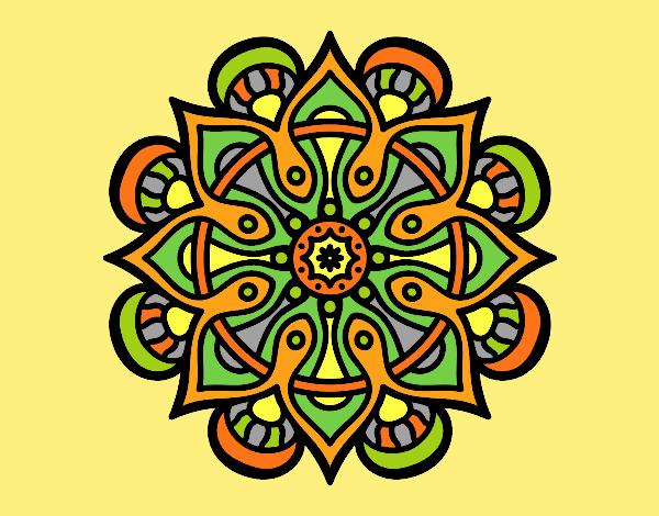 Coloring page Mandala arab world painted byLornaAnia