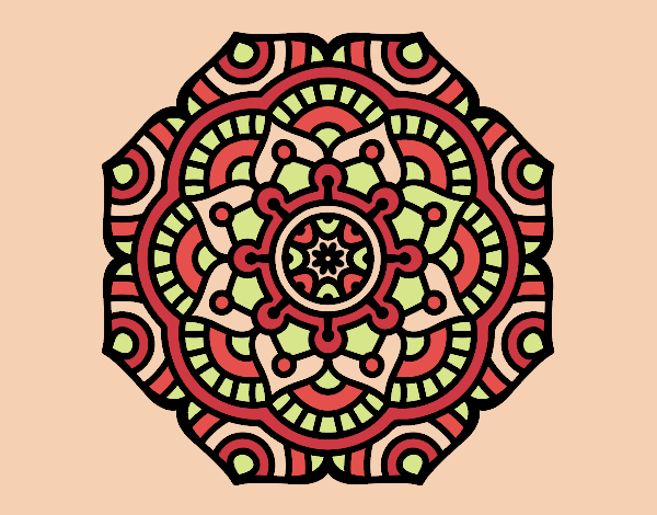 Coloring page Mandala conceptual flower painted bymoriahdawn