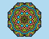 Coloring page Mandala conceptual flower painted byLornaAnia