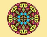 Coloring page Mandala crop circle painted byLornaAnia