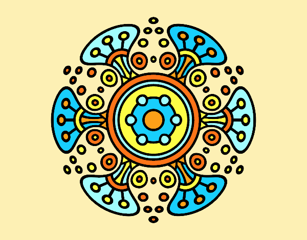 Coloring page Mandala distant world painted byLornaAnia