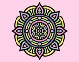 Coloring page Mandala fire points painted byLornaAnia