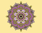 Coloring page Mandala floral flash painted byLornaAnia