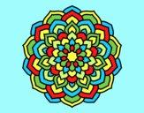 Coloring page Mandala flower petals painted byLornaAnia