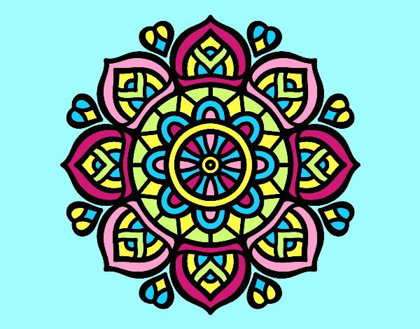 Coloring page Mandala for mental concentration painted byLornaAnia