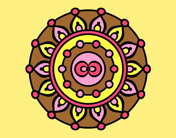Coloring page Mandala meditation painted byLornaAnia