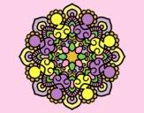 Coloring page Mandala meeting painted byLornaAnia