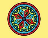 Coloring page Mandala mental balance painted byLornaAnia