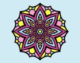 Coloring page Mandala simple symmetry  painted byLornaAnia