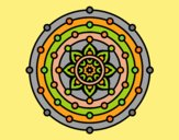 Coloring page Mandala solar system painted byLornaAnia
