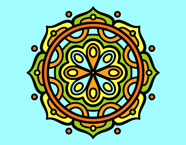 Coloring page Mandala to meditate painted byLornaAnia