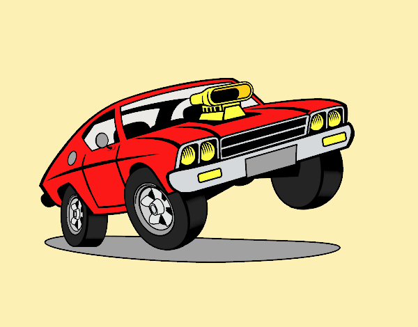 Coloring page Muscle car painted byLornaAnia