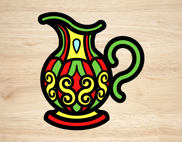 Coloring page Pitcher of water painted byLornaAnia