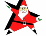 Star shaped Father Christmas