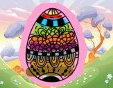 A floral easter egg