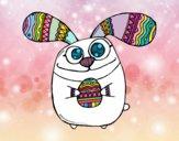 Easter bunny with bulging eyes