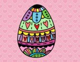 Easter egg with hearts