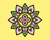 Coloring page Mandala lotus flower painted byLornaAnia