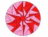 Mandala triangular sun